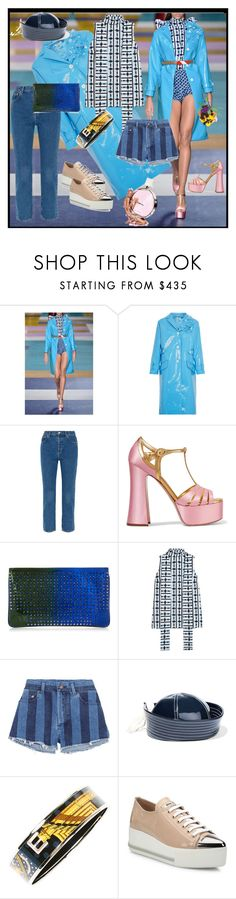 """""""Clothes make the man. Naked people have little or no influence on society. Mark Twain"""" by m-kints ❤ liked on Polyvore featuring Miu Miu, Balenciaga, Christian Louboutin, Yves Saint Laurent, Prada, Hermès, Spring, the, shorts and patent"""