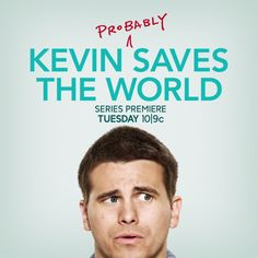 Motivation To Save The World. Kevin (Probably) Saves the World premieres Tuesday 10|9c on ABC!