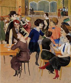 Rudolf Schicter's depiction of cafe society in the Weimar Republic  Via Modern History - Weimar Germany