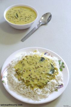 Khatta Moong (Whole Green Moong Dal) - A Gujarati recipe, whole green moong in sour and creamy yogurt gravy. It is known as Khattu mag in Gujarati. very delicious with rice or Jeera Rice. Jain Recipes, Indian Veg Recipes, Gujarati Recipes, Curry Recipes, Veggie Recipes, Vegetarian Recipes, Cooking Recipes, Healthy Recipes, Indian Dishes