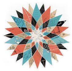 Scott Albrecht - Bloom No. Altered Art, Quilt Blocks, Abstract Art, Bloom, Quilts, Blanket, Paper, Design, Exploring