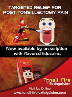 can i use lidocaine after tonsillectomy