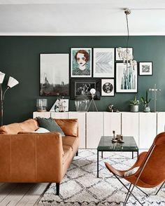 10X Interieurs Met Een Groene Muur - Alles Om Van Je Huis Je Thuis intended for Groene Muur Woonkamer