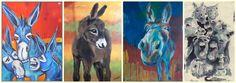 ein Stall voller Esel - die Ausstellung beginnt!!!!