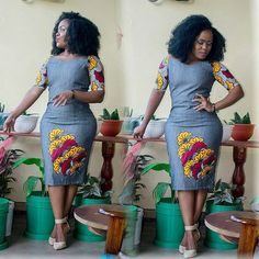 Ankara and Jean Combo : Lovely and Cute Styles Ladies are Rocking Now.Ankara and Jean Combo : Lovely and Cute Styles Ladies are Rocking Now Latest African Fashion Dresses, African Dresses For Women, African Print Dresses, African Print Fashion, African Attire, African Wear, Ankara Stil, Moda Afro, Shweshwe Dresses