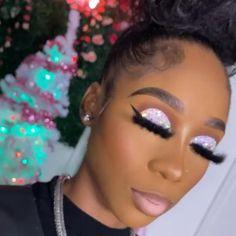 Makeup Black Women, Makeup For Black Skin, Black Girl Makeup, Girls Makeup, Dope Makeup, Glam Makeup Look, Glamour Makeup, Beauty Makeup, Glitter Makeup Looks