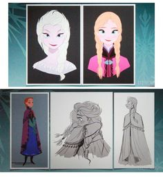 The sketches of Jin Kim, the pencils are too. Walt Disney Animation Studios has released concept art and character visual development art for Frozen. Frozen Disney, Frozen Art, Frozen And Tangled, Disney Love, Disney Art, Frozen 2013, Disney Stuff, Walt Disney Animation Studios, Pixar