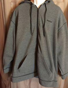 Men's 4XL Full Zip Hoodie Reebok Great Shape   eBay