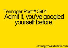 I admit hah..