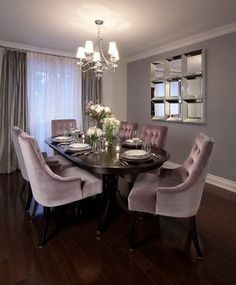 Project - traditional - dining room - toronto - Interiors Designed by Naomi Weissmann Dining Room Chair Cushions, Dining Room Table Decor, Elegant Dining Room, Luxury Dining Room, Dining Room Design, Dining Room Furniture, Living Room Decor, Furniture Stores, Wood Table
