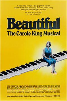 Beautiful the Carole King Musical Broadway Poster
