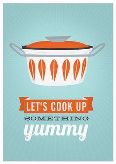 Kitchen print kitchen poster cathrineholm quote print by handz