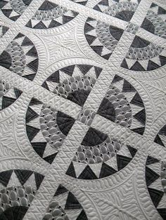 "Black and White ""Midtown Girl"" quilt by Andie Johnson and Kelly Biscopink, in:  Modern Designs for Classic Quilts (2012).  Quilted by Jenny Pedigo 