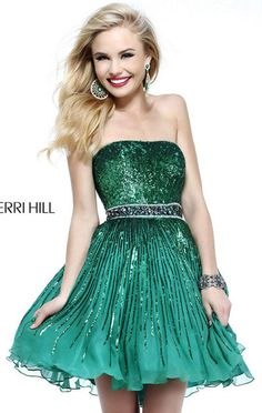 Sherri Hill 8520 Emerald Strapless Open Back Beaded A-line Short Homecoming Dress Cheap [Sherri Hill 8520 Emerald] - $178.00 : Cheap Homecoming Dresses 2015,Prom Dresses & Cocktail Dresses Online Sale!