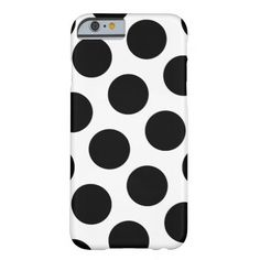 Big White and Black Polka Dots iPhone 6 Case