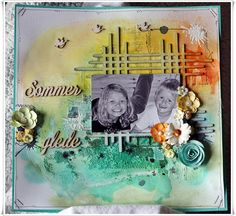 Jorunn`s Fristed: July challenge Scrap Around The World Mixed Media, Around The Worlds, Join, Scrapbooking, Challenges, Layout, Inspiration, Biblical Inspiration, Page Layout