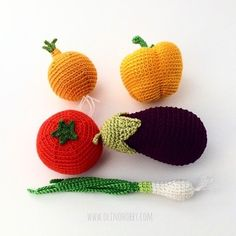 Crochet fruits and vegetables PATTERNS