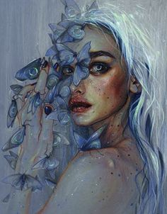 Art Inspiration Drawing, Art Inspo, Art Watercolor, Painting People, Painting Of Girl, Painting Art, Drawing People, Body Painting, Conceptual Painting