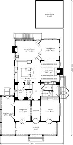 Allison ramsey architects floorplan for the regency for Southern living house plans with keeping rooms