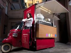 Piaggio APE TM food truck offer and gallery - small and definitely edgy truck if you can call it that.