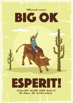 Gigposter for BIG OK + ESPERIT