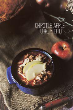Chipotle Apple Turkey Chili with Honey Cornbread