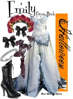 Inspired by character Emily the Corpse Bride voiced by Helena Bonham Carter in Tim Burton's 2005 animated musical film.