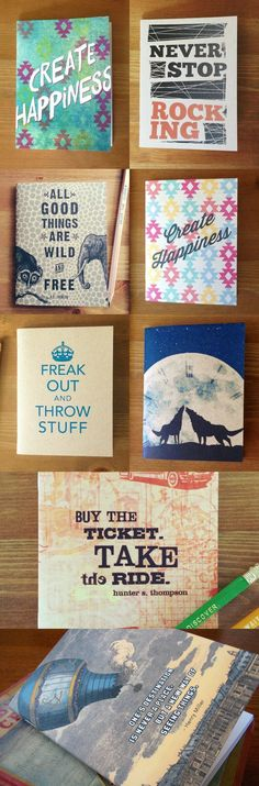 Tons of fun notebooks! Only $5.00 #handmade » What an awesome favor idea this would be.