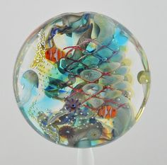 Lampwork Aquarium Bead with Clownfish & by SilverSageCreations