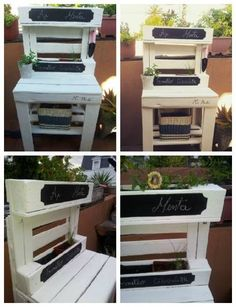 Pallet Outdoor Furniture For Herbs