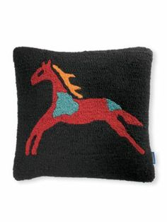CELEBRATE THE HORSE HOOKED PILLOW