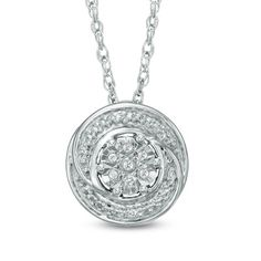 I've tagged a product on Zales: Diamond Accent Swirl Cluster Pendant in Sterling Silver. blk fri   $79 only online