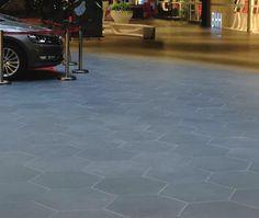 Parc porcelain floor tile in Hexagon, Steel Grey. #patiotile  http://www.pentalonline.com/porcelain.php