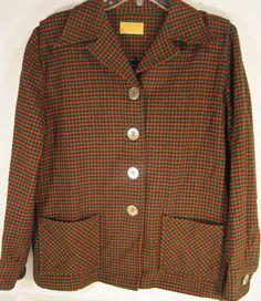 Pendelton Women Plaid Blazer VIntage 100% Virgin Wool Made In USA #Pendleton #Blazer