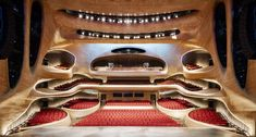Completed in 2015 in Harbin, China. Images by Adam Mørk, Hufton+Crow . MAD Architects unveils the completed Harbin Opera House, located in the Northern Chinese city of Harbin. In MAD won the international open. Harbin, Contemporary Architecture, Interior Architecture, Interior Design, Theater Architecture, Futuristic Architecture, Amazing Architecture, China Architecture, Innovative Architecture
