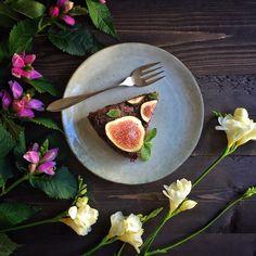 Chocolate, Zucchini & Fig Cake
