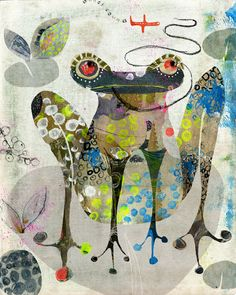Collage frog andrea daquino
