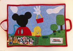 Mickey Mouse Clubhouse playmat with velcro characters