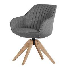 Chaise avec accoudoirs Ermelo - Tissu Gris