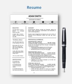 Secretary Resume Design  Personal Assistant Resume Template