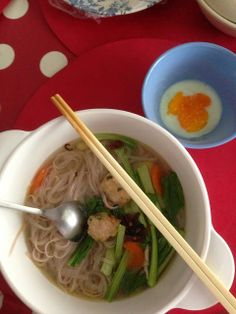 The Right to Be Alive: Chicken Balls Noodle Soup. Contains carrot, moderate salicylate. Omit for strict elimination.