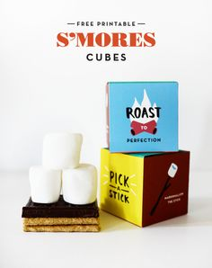 Printable S'mores Cubes | Oh Happy Day!