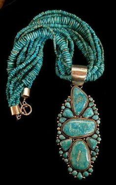 ☮ American Hippie Bohéme Boho Style Jewelry ☮ Turquoise Statement Necklace