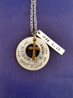 Hand Stamped Scripture Necklace Bible Verse by TheVerseWithin