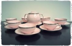 Service à Café Vintage Epiag Rose Pastel
