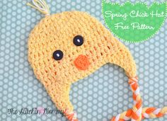 Crochet Spring Chick Hat - Free Pattern - The Stitchin' Mommy