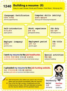 1240 Building a resume (II)