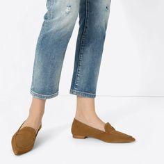 FLAT POINTY LEATHER SHOES-Flats-SHOES-WOMAN   ZARA United States