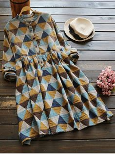GET $50 NOW | Join RoseGal: Get YOUR $50 NOW!http://www.rosegal.com/casual-dresses/stand-neck-long-sleeve-argyle-893866.html?seid=1766811rg893866
