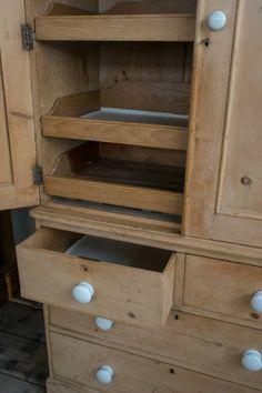 Mid Victorian Pine Linen press